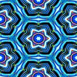Textura o fondo geométrica azul abstracta inconsútil con las manchas del aceite stock de ilustración