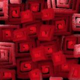 A textura obscura de quadrados vermelhos ilumina a abstração para um fundo ilustração do vetor