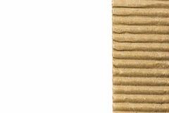 Textura ondulada da flauta da placa de papel de Brown Foto de Stock Royalty Free
