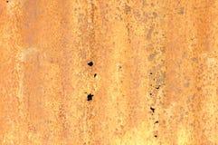 Textura ondulada oxidada do metal Fotos de Stock Royalty Free
