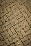Textura ondulada Semarang recolhido foto Indonésia do pavimento do retângulo imagens de stock