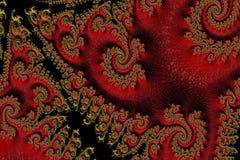 Textura oriental abstrata do vermelho e do ouro fotos de stock royalty free