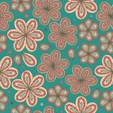 Textura ornamentado infinita do fundo agradável decorativo sem emenda decorativo floral das flores do teste padrão ilustração do vetor