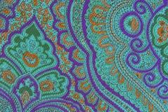 Textura ornamental floral de la tela Imagenes de archivo