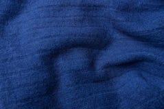 Textura oscura azul de la tela del paño de lana de la ropa Imagen de archivo libre de regalías
