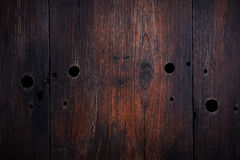 Textura oscura de madera de la vendimia Foto de archivo libre de regalías