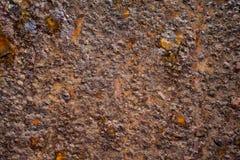 Textura oscura del metal oxidado Imagen de archivo libre de regalías