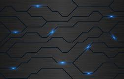 Textura oscura futurista del techno del hierro del vector inconsútil