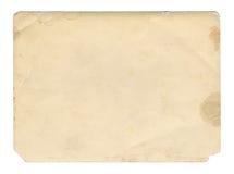 Textura ou fundo de papel velho do marrom do estilo do vintage, com bordas rasgadas desiguais fotos de stock