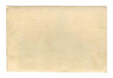Textura ou fundo de papel velho do marrom do estilo do vintage, com bordas rasgadas desiguais foto de stock