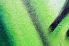 Textura ou fundo verde dos grafittis Imagens de Stock