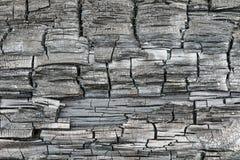 A textura ou o fundo do log de madeira carbonizado ou queimado imagens de stock royalty free