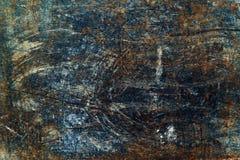 Textura oxidada cepillada del metal Fotografía de archivo