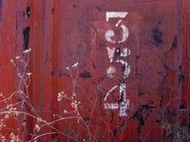 Textura oxidada com números Imagem de Stock Royalty Free