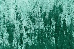 Textura oxidada da parede do metal no tom ciano fotografia de stock