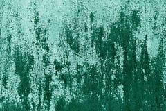 Textura oxidada da parede do metal no tom ciano foto de stock royalty free