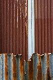 Textura oxidada de la placa de acero Fotografía de archivo
