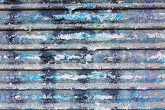 Textura oxidada de la puerta del hierro del Grunge con las rayas Imágenes de archivo libres de regalías