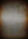 Textura oxidada de plata del fondo de la rejilla del metal Imagenes de archivo