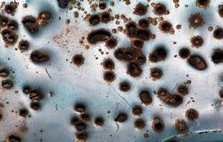 Textura oxidada del fondo del agujero de punto negro Fotos de archivo libres de regalías