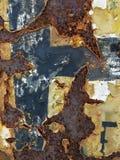 Textura oxidada del fondo del panel del hierro Fotografía de archivo libre de regalías