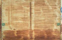 Textura oxidada del hierro acanalado Imagen de archivo