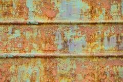 Textura oxidada del hierro con la pintura verde Fotografía de archivo libre de regalías