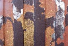 Textura oxidada del metal Mancha, hierro rojo y blanco de la superficie imagen de archivo