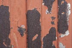 Textura oxidada del metal Mancha, hierro rojo y blanco de la superficie imagen de archivo libre de regalías