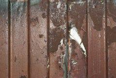 Textura oxidada del metal Mancha, hierro rojo y blanco de la superficie fotografía de archivo