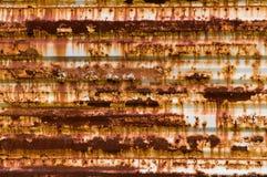 Textura oxidada del panel Fotografía de archivo libre de regalías