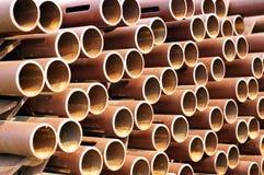 Textura oxidada del tubo Imagen de archivo libre de regalías