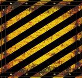 Textura oxidada do cuidado do sinal do quadro-negro Foto de Stock