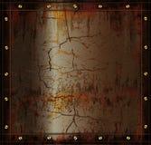 Textura oxidada do cuprum do metal do quadro-negro Imagem de Stock