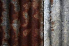 Textura oxidada do ferro ondulado Fotografia de Stock Royalty Free