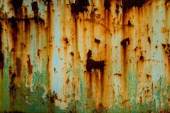 Textura oxidada do metal Fotografia de Stock Royalty Free