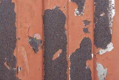 Textura oxidada do metal Mancha, ferro vermelho e branco da superfície imagens de stock
