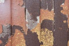 Textura oxidada do metal Mancha, ferro vermelho e branco da superfície fotografia de stock