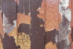 Textura oxidada do metal Mancha, ferro vermelho e branco da superfície foto de stock