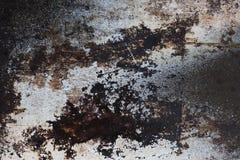 Textura oxidada oscura del metal Foto de archivo