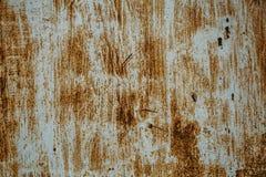Textura oxidada velha do ferro, pintura riscada na superfície metálica, folha do grunge do metal áspero fotografia de stock royalty free