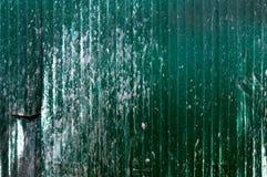 Textura oxidada velha verde do grunge do zinco, fundo verde da textura do zinco do vintage Imagens de Stock