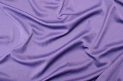 Textura púrpura del satén Foto de archivo