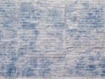Textura, parede abstrata do fundo, a branca e a azul da construção de tijolo Foto de Stock Royalty Free