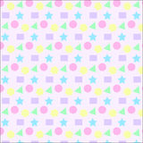 Textura pastel colorida do fundo do teste padrão da forma da geometria Fotografia de Stock