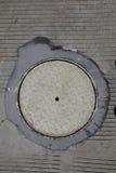 Textura pavimentada concreta Imagem de Stock Royalty Free
