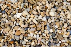 Textura pequena da pedra do cascalho Imagens de Stock Royalty Free