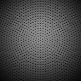 Textura perforada círculo de la parrilla del altavoz del carbono Imagen de archivo
