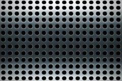 Textura perforada del acero inoxidable Foto de archivo