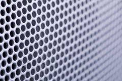 Textura perforada del metal Imagen de archivo libre de regalías